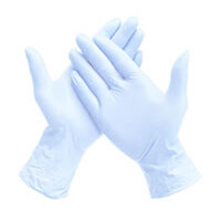 NITRILE GLOVES WHITE